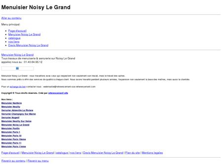 Menuisier Noisy Le Grand tel: 06.60.42.58.26...
