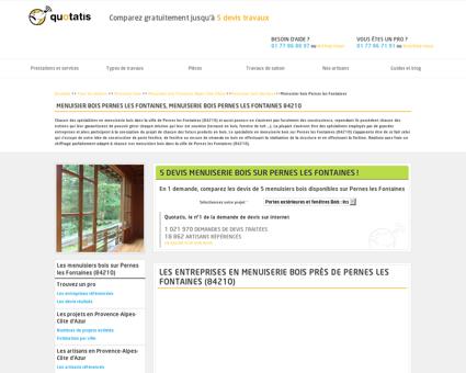 Menuisier bois Pernes les Fontaines - 5 devis...