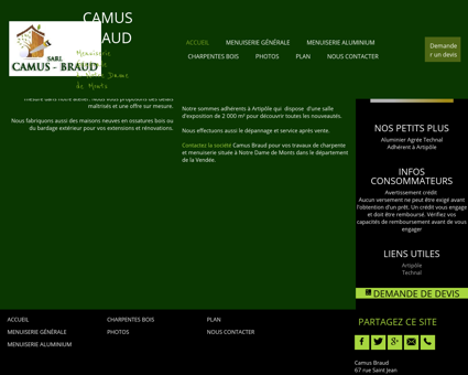 Camus Braud, menuiserie à Notre Dame de...
