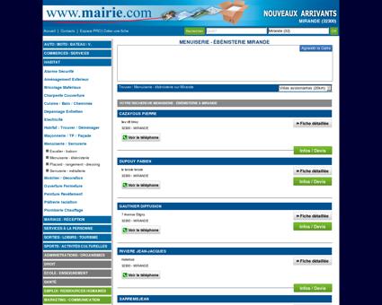 Menuiserie - ébénisterie Mirande : Mairie.com