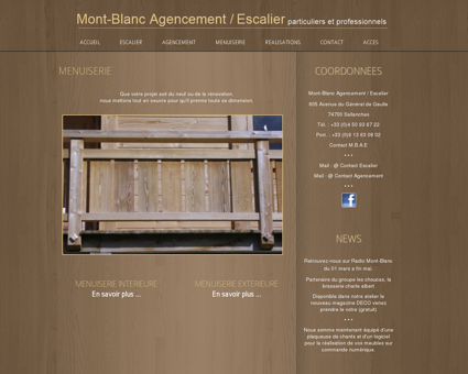 MENUISERIE | MONT-BLANC AGENCEMENT /...