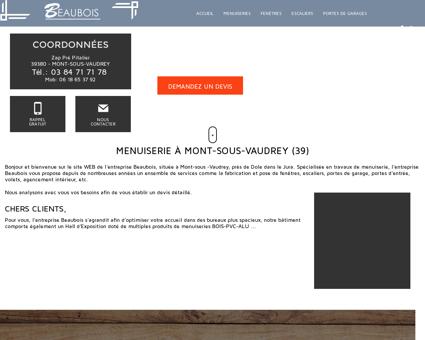 Menuiserie à Mont-sous-Vaudrey (39) -...