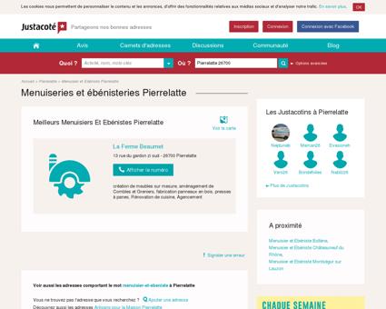 Menuisiers et menuiserie Pierrelatte 26700