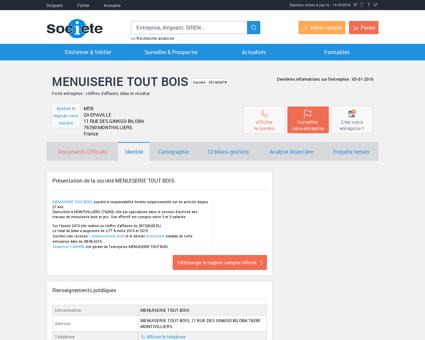 MENUISERIE TOUT BOIS (MONTIVILLIERS)...