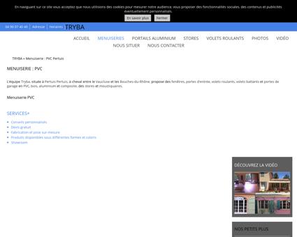 Menuiserie PVC Pertuis - TRYBA