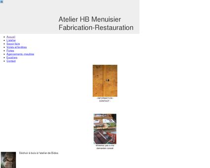 HB Menuisier : menu - HB Menuisier - Atelier...