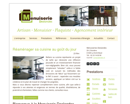 Accueil - Menuiserie Deslandes - La Ferté...
