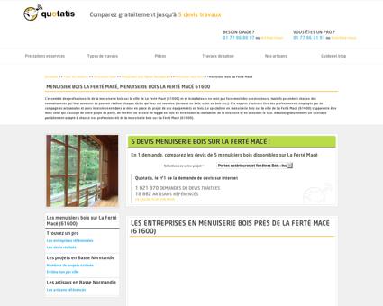Menuiserie bois La Ferté Macé, 5 devis...