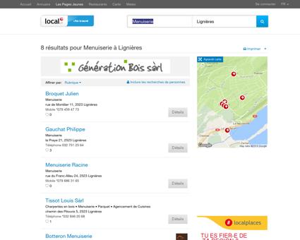 Menuiserie à Lignières - 8 Résultats sur local.ch