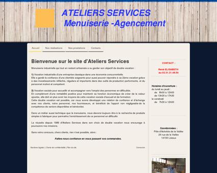 Accueil - Site ateliers-services-menuiserie-lisieux