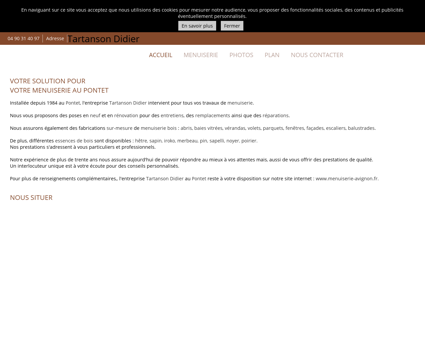 Menuiserie (entreprises) - Tartanson Didier à...
