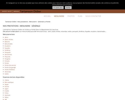 Menuiserie (entreprises) Le Pontet -...