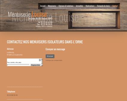 Contactez la Menuiserie Louise - Menuiserie...