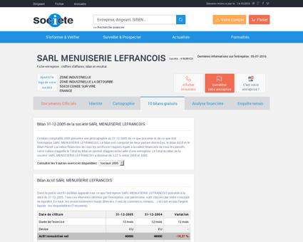SARL MENUISERIE LEFRANCOIS à CONDE SUR...