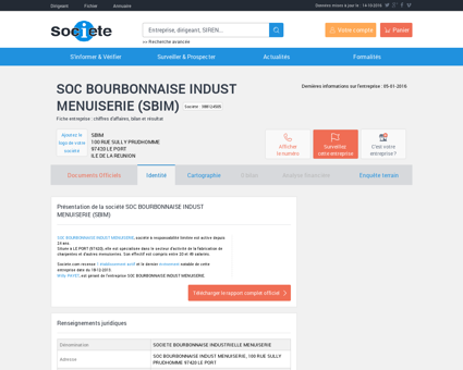 SOC BOURBONNAISE INDUST MENUISERIE (LE...