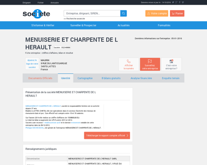 MENUISERIE ET CHARPENTE DE L HERAULT...