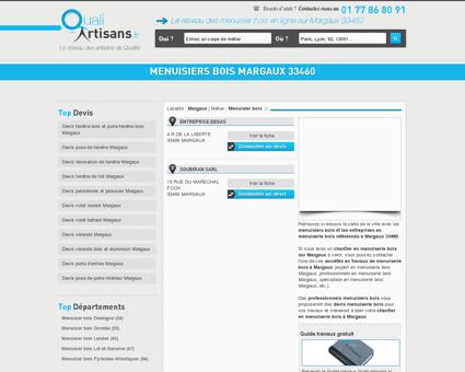 Menuisier bois Margaux 33460