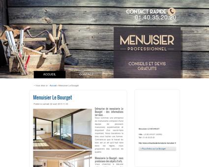 Menuisier Le Bourget - Tél : 01.40.35.20.20