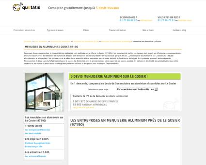 Menuisier en aluminium Le Gosier - 5 devis...