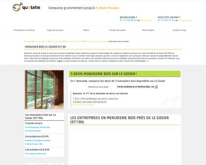 Menuisier bois Le Gosier - 5 devis Menuisier...