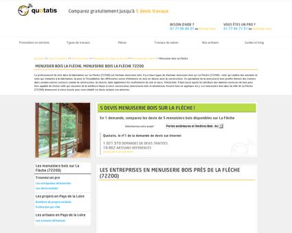 Menuisier bois La Flèche, Menuiserie bois La...