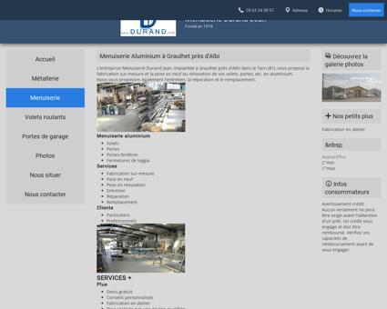 Menuiserie Aluminium à Graulhet près d'Albi...