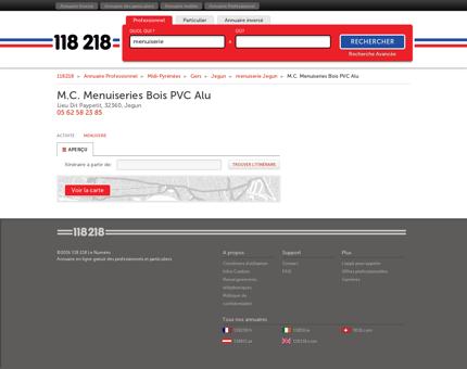 M.C. Menuiseries Bois PVC Alu - Lieu Dit...
