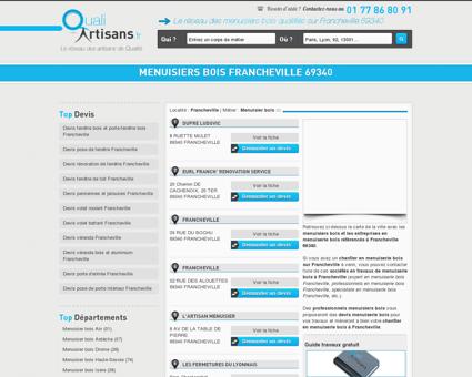 Menuisier bois Francheville 69340