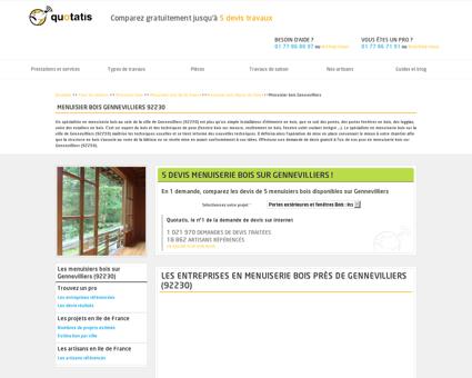 Menuisier bois Gennevilliers - 5 devis...