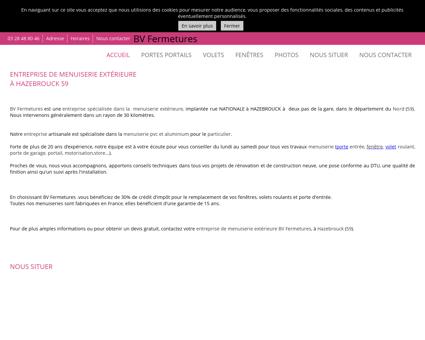 Bv fermetures - Entreprise de menuiserie...