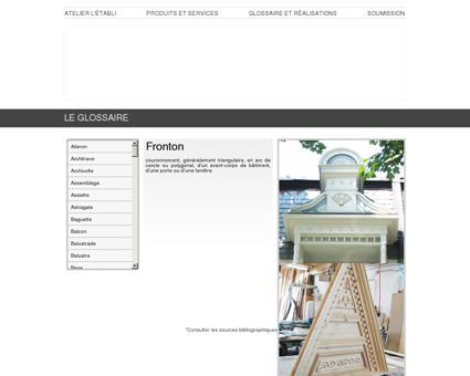 Fronton | Menuiserie et ébénisterie...