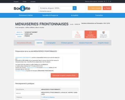 MENUISERIES FRONTONNAISES (LAON)...