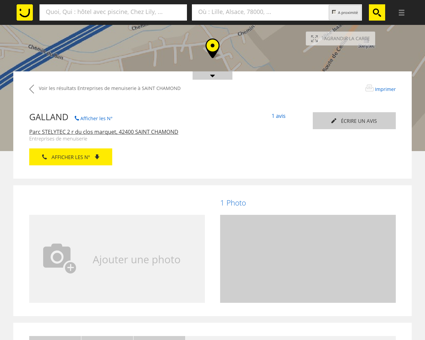 GALLAND Saint Chamond (adresse, horaires, avis)
