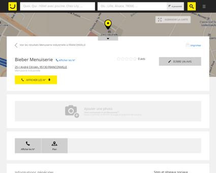Bieber Menuiserie Franconville (adresse,...