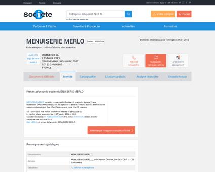 MENUISERIE MERLO (GARDANNE) Chiffre...