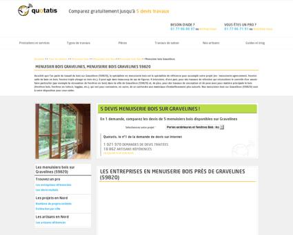 Menuisier bois Gravelines, Menuiserie bois...