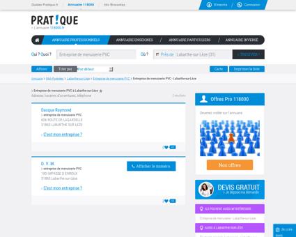 Entreprise de menuiserie PVC à Labarthe-sur...