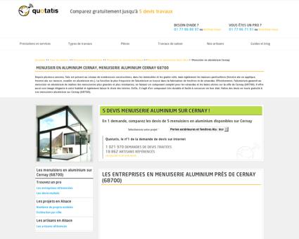 Menuisier en aluminium Cernay, Menuiserie...