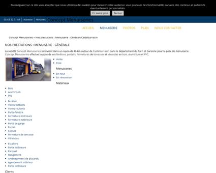 Menuiserie (entreprises) Castelsarrasin -...