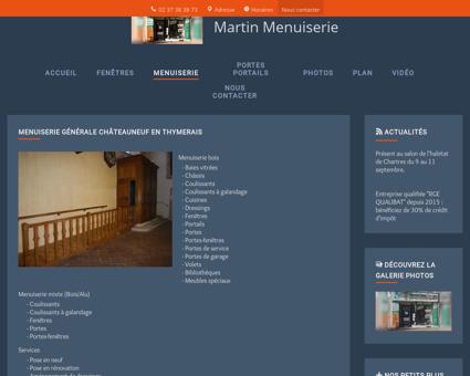 Menuiserie (entreprises) Châteauneuf en...