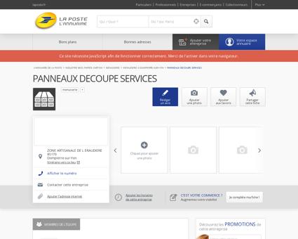 PANNEAUX DECOUPE SERVICES - Menuiserie...
