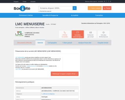 LMC MENUISERIE (CESTAS) Chiffre d'affaires,...