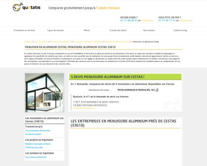 Menuisier en aluminium Cestas, Menuiserie...