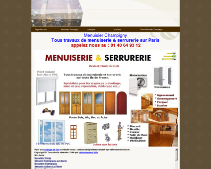 Menuisier Champigny tel:06 60 42 58 26...