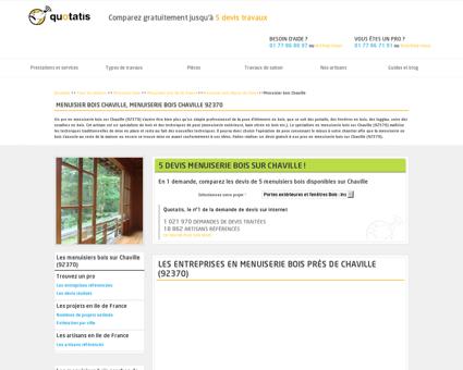 Menuisier bois Chaville, Menuiserie bois...