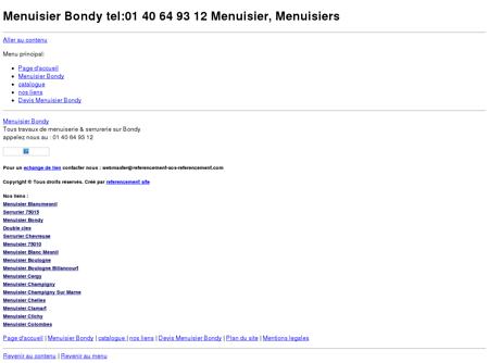 Menuisier Bondy tel:06 60 42 58 26 Menuisier,...