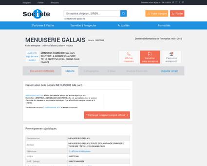 MENUISERIE GALLAIS (BRETTEVILLE DU...