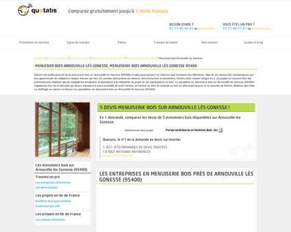 Menuisier bois Arnouville lès Gonesse,...
