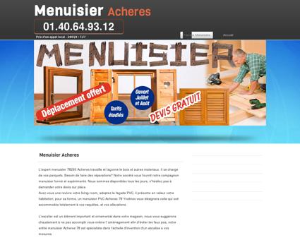 Artisan Menuisier Acheres joignable 24h/24
