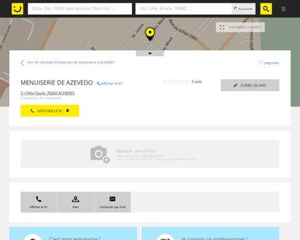 MENUISERIE DE AZEVEDO Achères (adresse) -...